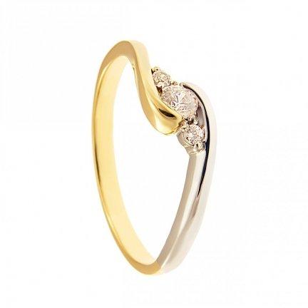 ARTES-Pierścionek złoty zaręczynowy BC-139 PR. 375