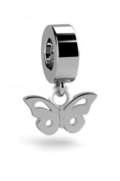 Koralik charms zawieszka modułowa srebrna 925, Motyl