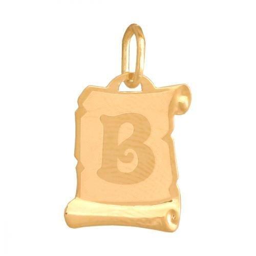 Zawieszka złota 585 litera, literka B -  Lv02b