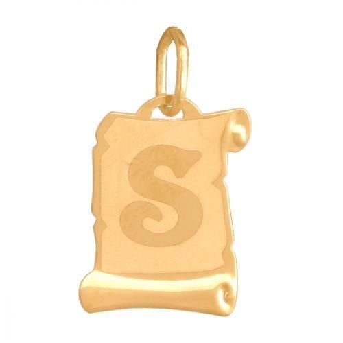 Zawieszka złota 585 litera, literka S -  Lv02s