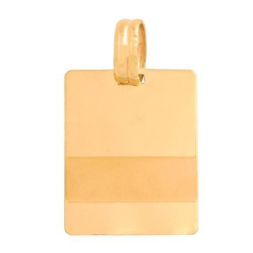 Zawieszka złota 585 blaszka do grawerowania - Wb005