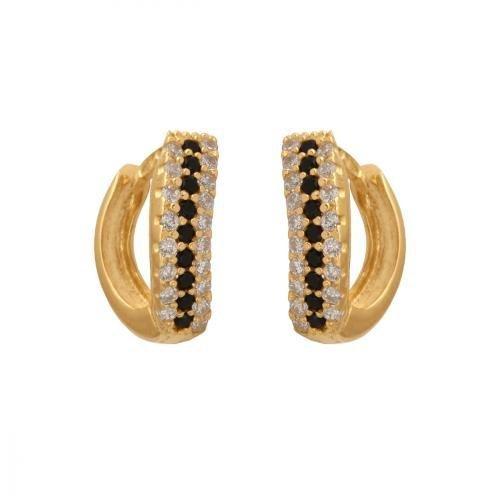 Kolczyki złote 585 na klapkę, zatrzaskowe - 27873