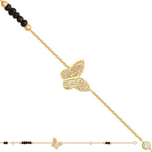 Bransoletka złota, damska 585 - Br212