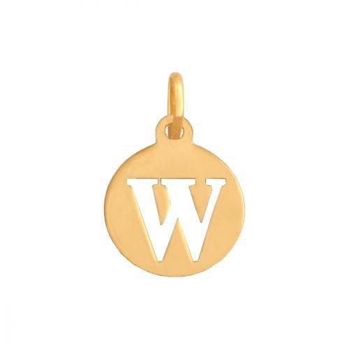 Zawieszka złota 585 litera, literka W -  35362