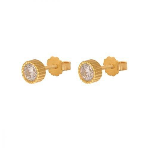 Kolczyki złote 585 sztyft - 35721