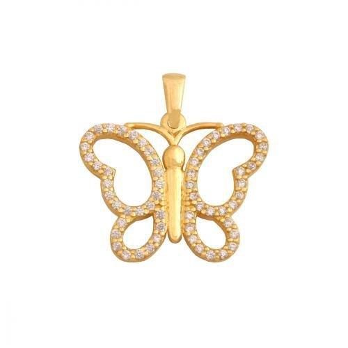 Zawieszka złota 585 motyl, motylek  - Pn262
