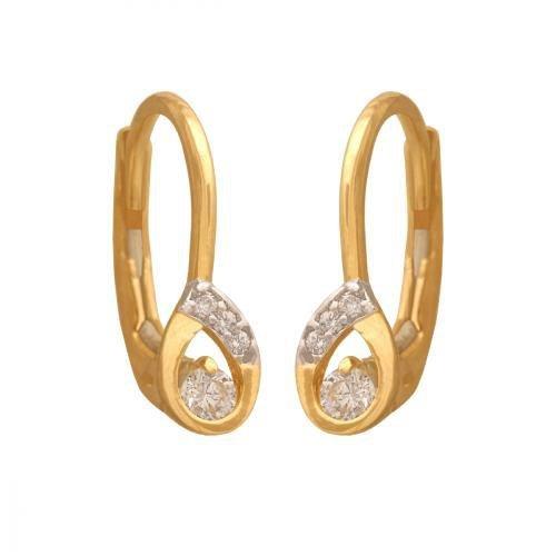 Kolczyki złote 585 wiszące - 37762