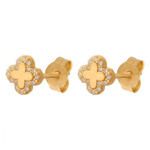 Kolczyki złote 585 sztyft - 40990