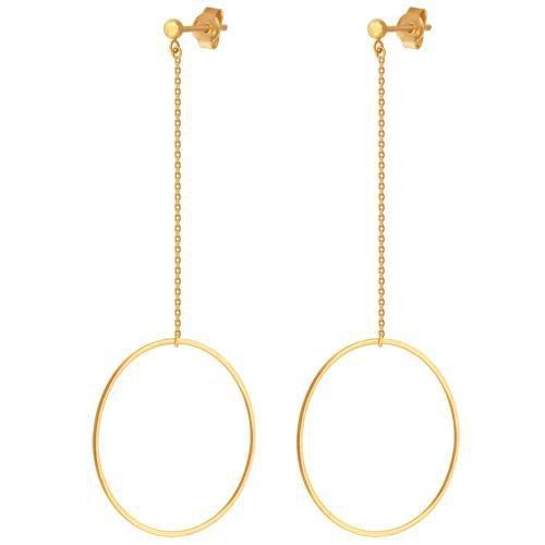 Złote kolczyki 585 - Kolczyki złote 585 sztyft - 42693