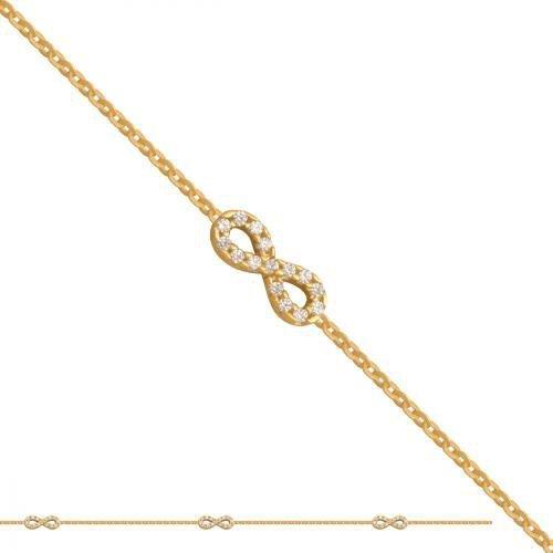 Bransoletka złota, damska 585 - Br179