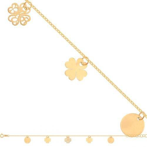 Bransoletka złota, damska 585 - Br121