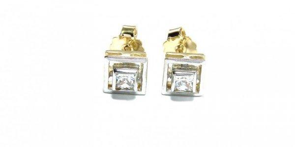 Kolczyki złote 585 na klapkę, zatrzaskowe - ARTES-Kolczyki złote 221 PR. 585