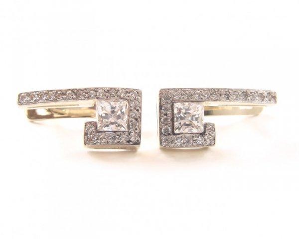 Kolczyki złote 585 na klapkę, zatrzaskowe - ARTES-Kolczyki złote  PR. 585