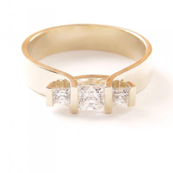 ARTES-Pierścionek złoty 546 PR. 585
