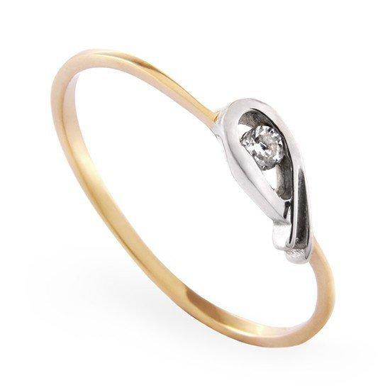 ARTES-Pierścionek złoty A-38  PR. 585