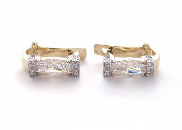 Kolczyki złote 585 na klapkę, zatrzaskowe - ARTES-Kolczyki złote 453 PR. 585