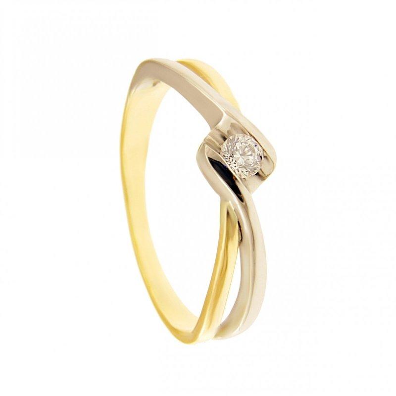 ARTES-Pierścionek złoty zaręczynowy BC156/375 PR. 375