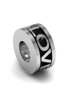 Koralik charms zawieszka modułowa srebro 925 LOVE YOU