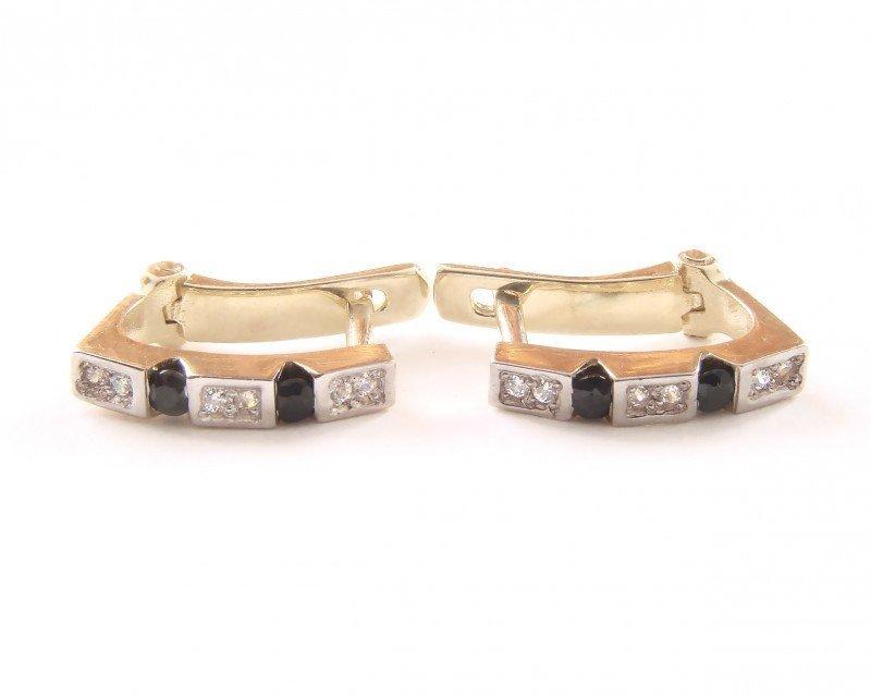 Kolczyki złote 585 na klapkę, zatrzaskowe - ARTES-Kolczyki złote 498 PR. 585