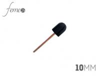 Nośnik na frez, frez gumowy, trzpień 10 mm