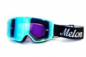 Gogle Melon PARKER MTB/MX Miętowy Mat (Pasek i szkło do wyboru)
