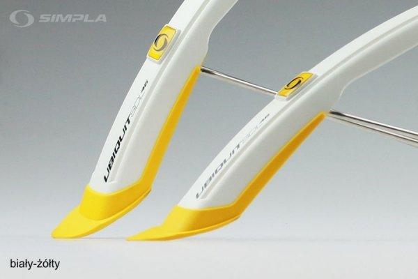 Błotniki Simpla UBIQUIT SDL 46mm P+T biały/żółty
