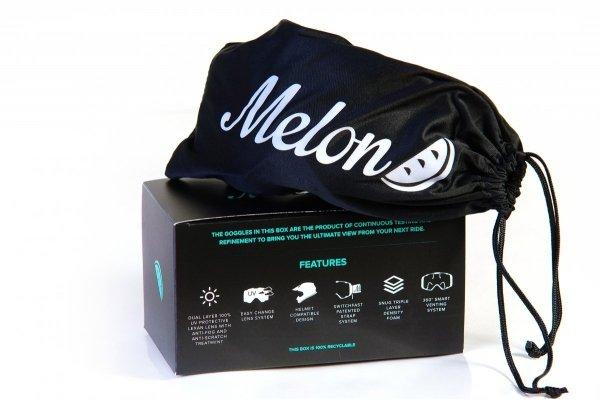 Gogle Melon PARKER MTB/MX Pomarańcz gumowy mat (Pasek i szkło do wyboru)