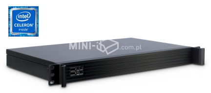 Komputer µForce Serwer Rack 1U 2xCOM / Intel Celeron J1900 / 4GB RAM / 120GB SSD / Mini-ITX