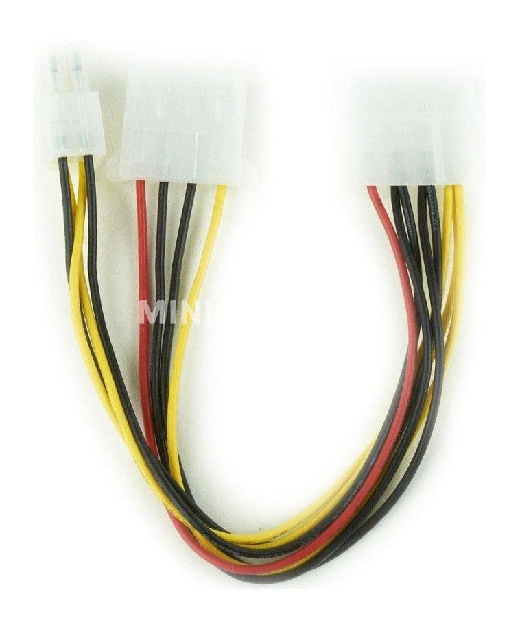 Kabel rozdzielacz zasilania 2 x Molex/4PIN P4