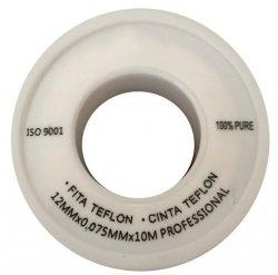 TAŚMA TEFLONOWA DO WODY 12 mm x 10 m TEFLON MAŁY