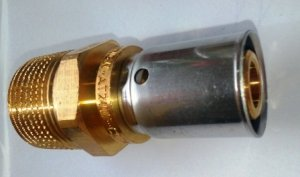 Oventrop Cofit P Złączka zaprasowywana 20x3/4 GZ nypel Pex
