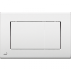 Alcaplast Przycisk spłukujący do stelaża wc biały chrom mat m27x