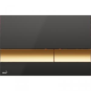 Alcaplast M1728-5 przycisk spłukujący WC czarno-złoty