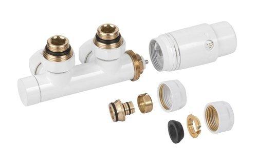 Invena Duoplex Moduł grzejnika łazienkowego biały