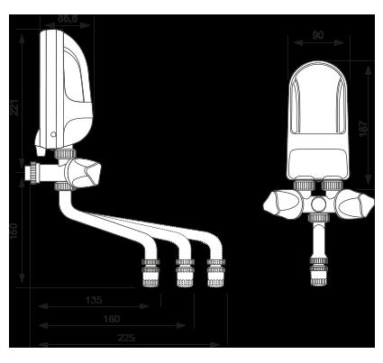 Podgrzewacz wody Dafi 7,5 kw Ogrzewacz przepływowy z wylewką