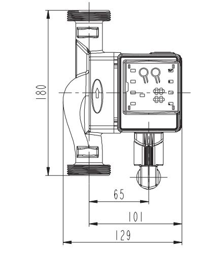 Pompa Obiegowa elektroniczna C.O. 25-40 oszczędna
