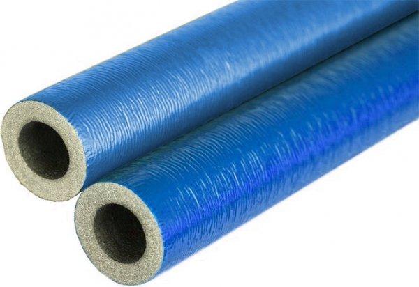 Otulina na rurę 32 35/6 niebieska w laskach 2m