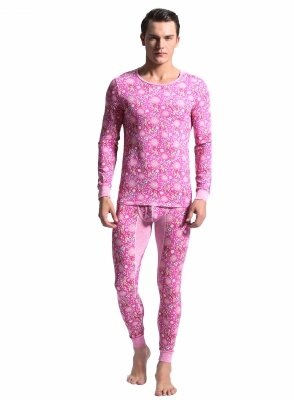 Men`s thermal set BODY GMW Reindeer Pink