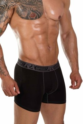 RX SPORT Technic Black+Grey Boxer Briefs