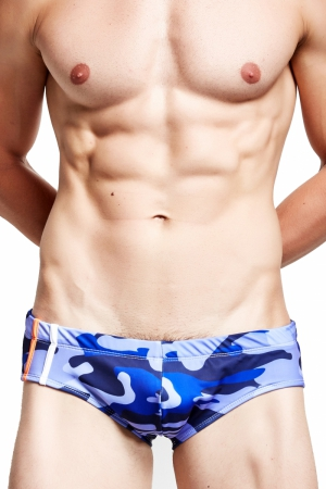 Plavky (Slipy) Supa! Swim! Camo Royal Blue