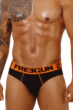 Slipy FREEGUN Basic Black+Orange