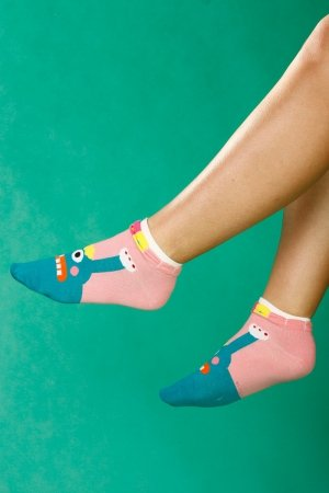 Supa! Sox! Green Monster ladies socks (JP6203)