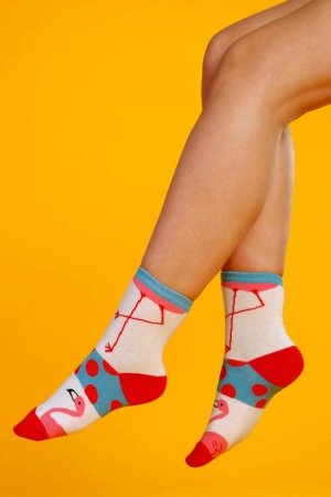 Supa! Sox! Flamingo #1 ladies socks