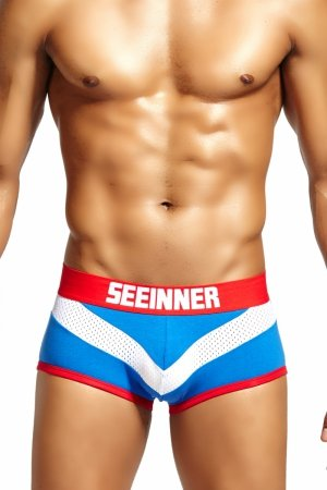 SEEINNER Blue Victory Boxer Briefs