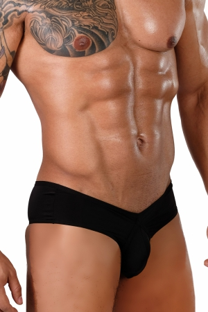 GMW LITE Black Pouch Black men`s briefs [MAXI]