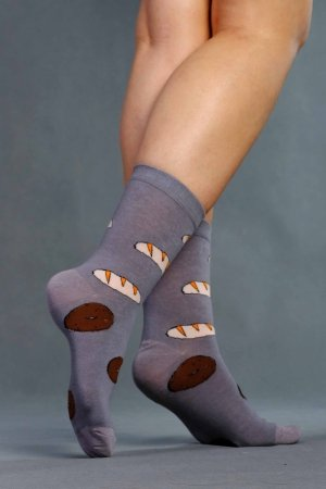 Supa! Sox! Grey Pastries ladies socks