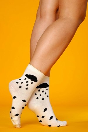 Supa! Sox! White Clouds ladies socks