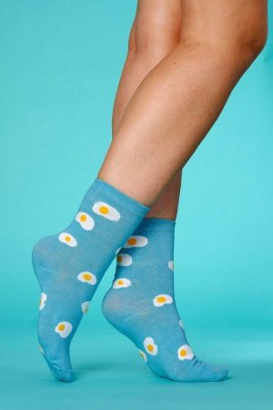 Supa! Sox! Blue Eggs ladies socks