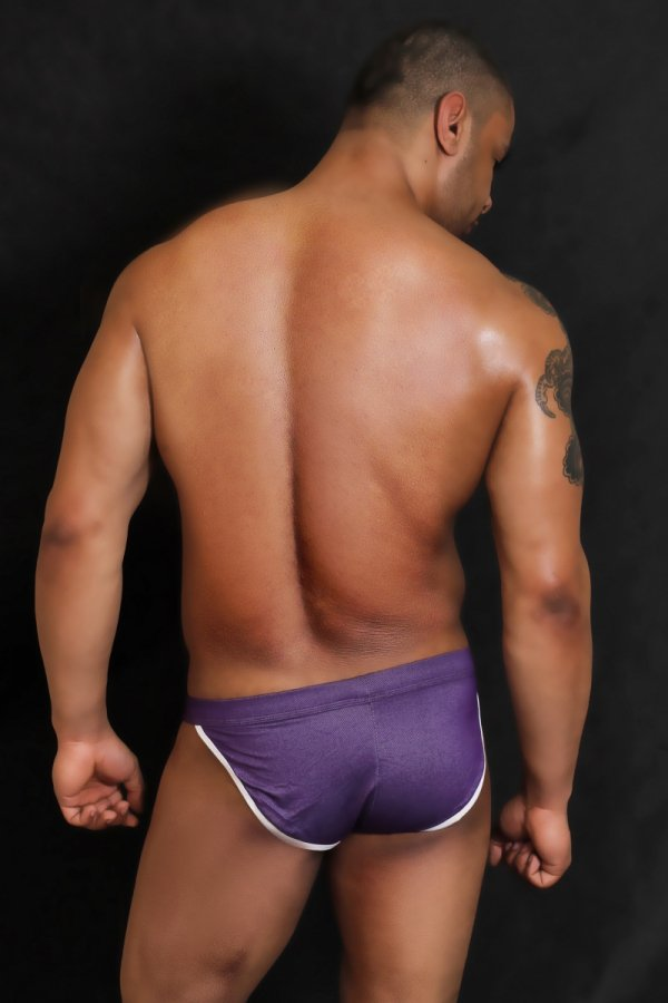 BODY GMW Jeans Purple Briefs (Tanga)
