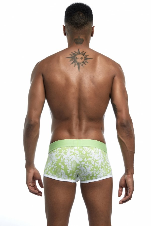 SEEINNER Green Leafs Boxer Briefs